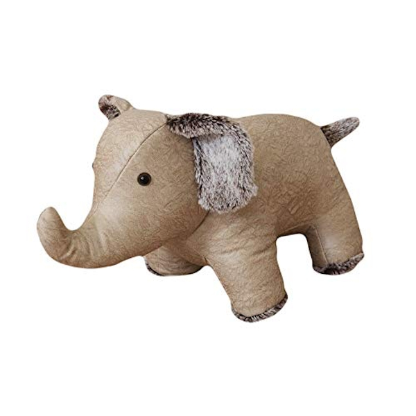 HESTIA? Faux Leather Door Stop - Beige Elephant