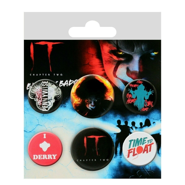 IT Chapter 2 Pennywise Badges (Pack Of 6)