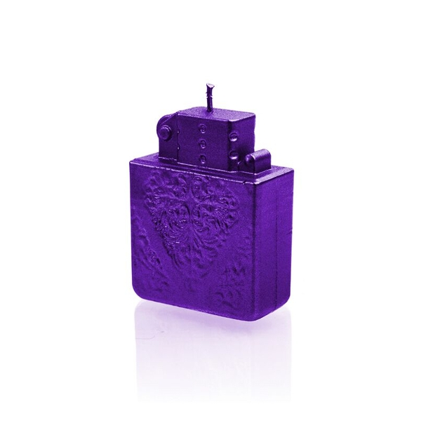 Violet Metallic Lighter Candle