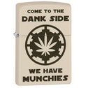 Zippo Dank Side Design Cream Matte Finish Windproof Lighter