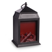 Mini LED Fireplace Lantern Matte Black - Image 2