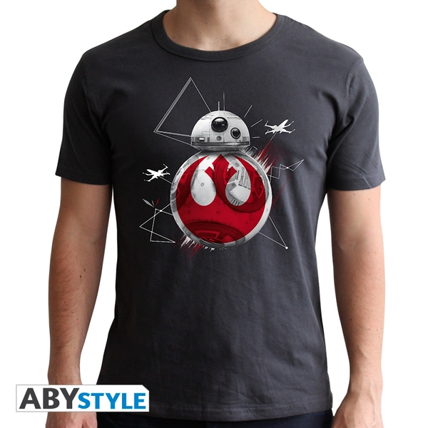 Star Wars - Bb8 E8 Men's Medium T-Shirt - Grey