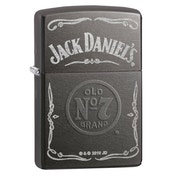 Zippo Jack Daniel's Label Grey Dusk Regular Lighter