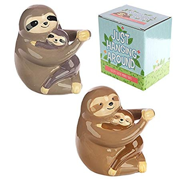 Sloth and Baby Money Box (1 Random Supplied)