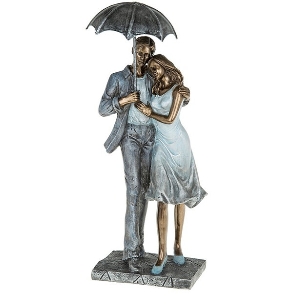 Rainy Day Romance Loving Figures Ornament