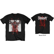 Slipknot - Devil Single - Logo Blur Men's Large T-Shirt - Black