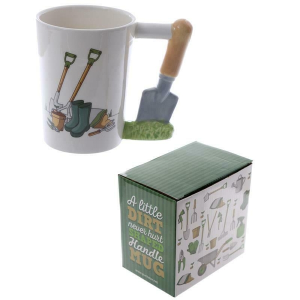 Trowel Shaped Handle Garden Mug