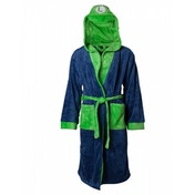 Nintendo Super Mario Bros. Men's XS/S/M Luigi Bath Robe with Hood Blue/Green