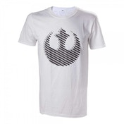 Star Wars Rebel Logo Small White T-Shirt