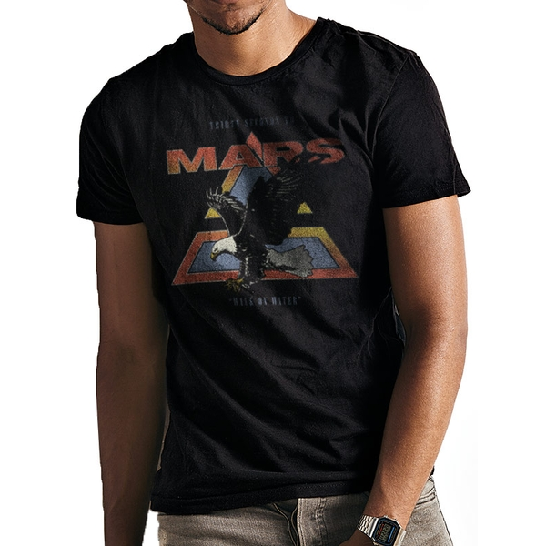 30 Seconds To Mars - Walk On Water Vintage Eagle Men's Small T-Shirt - Black