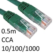 RJ45 (M) to RJ45 (M) 10/100/1000 Network 6 0.5m Green OEM Moulded Boot CCA Economy Network Cable