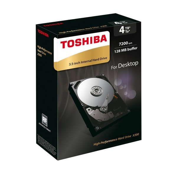Toshiba X300 4TB 128MB 7200RPM 3.5-Inch SATA Internal Hard Drive