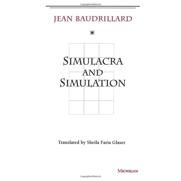 Simulacra and Simulation by Jean Baudrillard (Paperback, 1994)