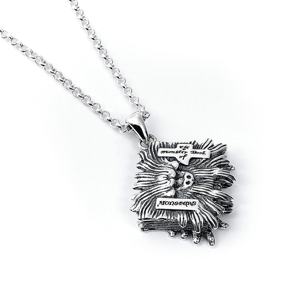 Sterling Silver Monster Book Necklace