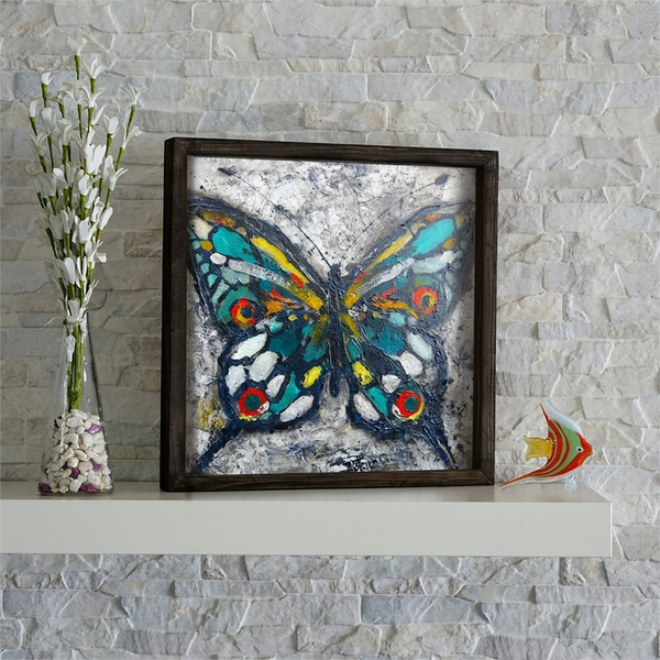 KZM474 Multicolor Decorative Framed MDF Painting
