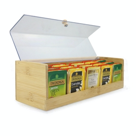 Bamboo Tea Storage Box | M&W