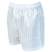 Precision Striped Continental Football Shorts 26-28 inch White