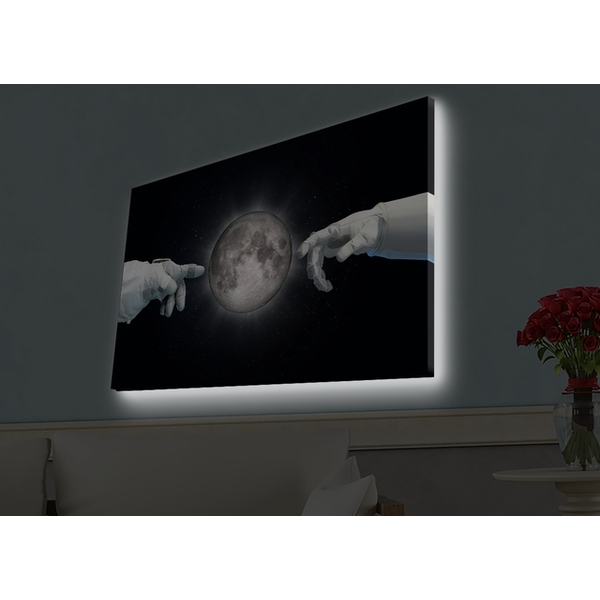 4570HDACT-085 Multicolor Decorative Led Lighted Canvas Painting