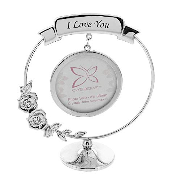 Crystocraft Frame - I Love You - Crystals From Swarovski?