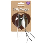 Rosewood Jolly Moggy Faux Leather Mice Cat Toy