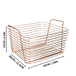 Rose Gold Metal Storage Basket | M&W Large New - Image 3