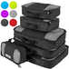 Savisto Packing Cubes Suitcase Organiser 6-Piece Set - Black - Image 2