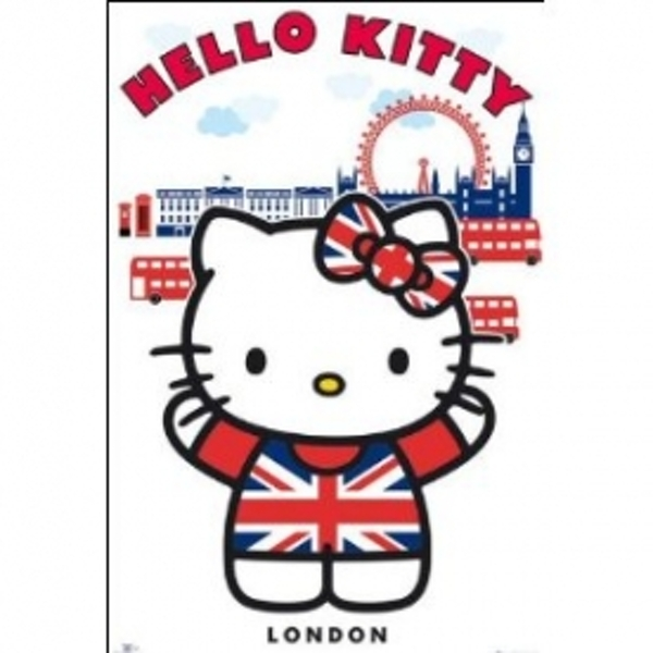 Hello Kitty London Maxi Poster