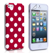YouSave Accessories iPhone 5 / 5s Polka Dot Gel Case - Red
