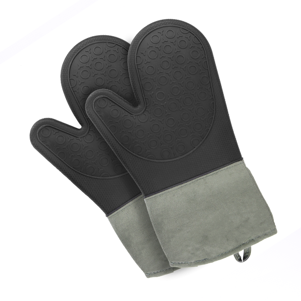 Set of 2 Silicone Oven Gloves | M&W