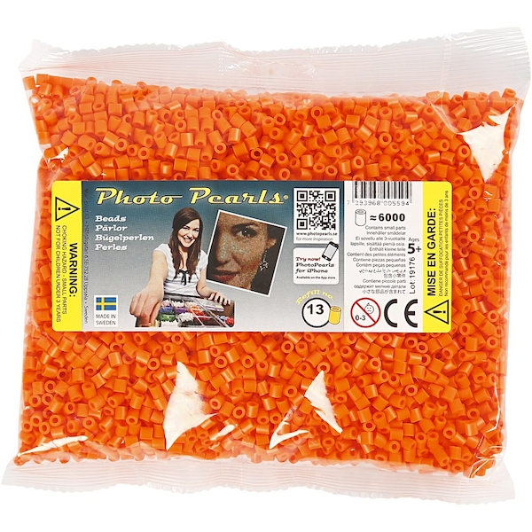 Clear Orange Beads 6000 Pieces