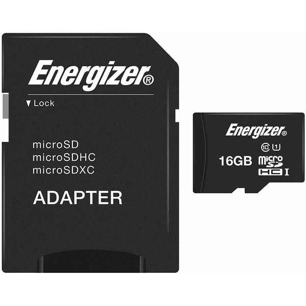 Energizer UHS 1 Micro SDHC Card 16GB Memory SD Card (Black)