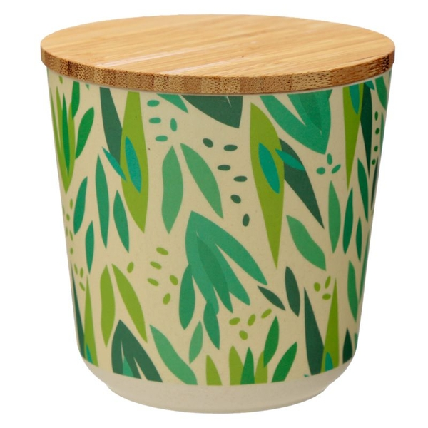 Willow Bamboo Composite Small Round Storage Jar