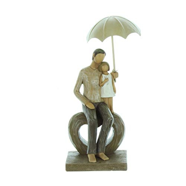 Rainy Day Collection Resin Figurine - Father & Child Seated