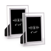 "Glass Photo Frames - Set of 2 | M&W 6"" x 4"""
