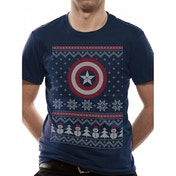 Captain America Civil War Unisex Small T-Shirt - Blue