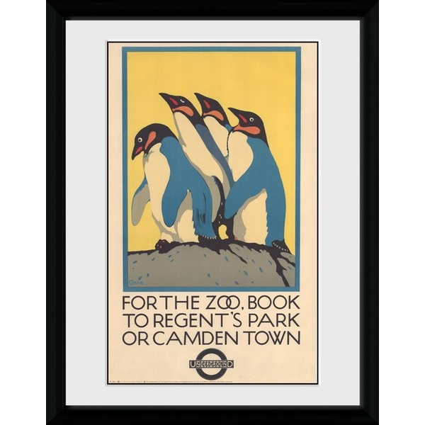 """Transport For London Zoo 12"""" x 16"""" Framed Collector Print"""
