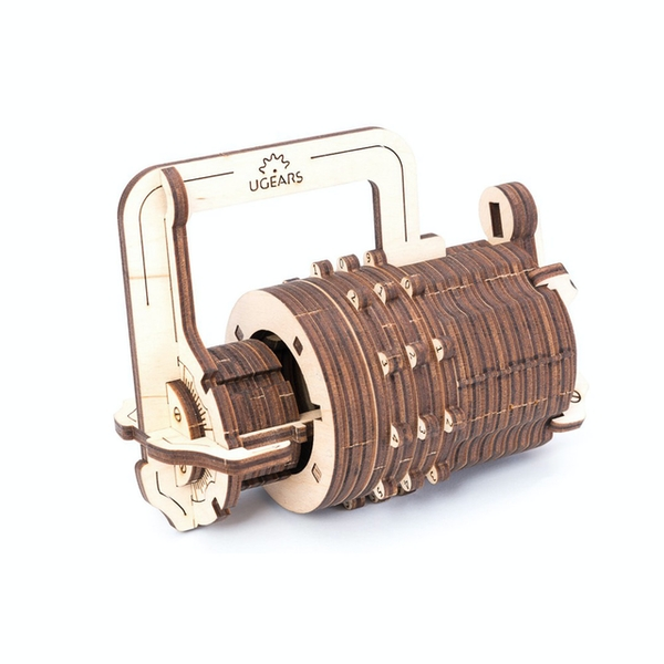 Combination Lock UGears 3D Wooden Model Kit