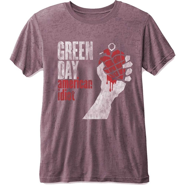 Green Day - American Idiot Unisex X-Large T-Shirt - Pink