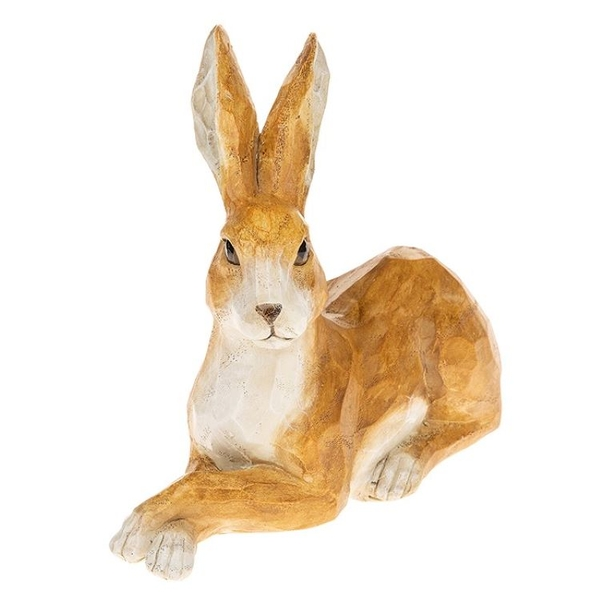 Country Hare Lying Large Ornament