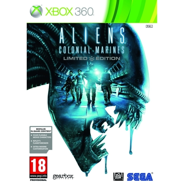 Aliens Colonial Marines Limited Edition Game Xbox 360