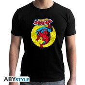 Marvel - Spiderman Vintage Men's X-Small T-Shirt - Black