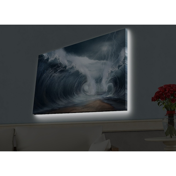 4570HDACT-042 Multicolor Decorative Led Lighted Canvas Painting