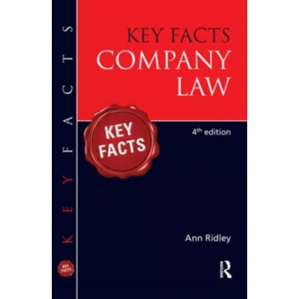 Key Facts Company Law by Ann Ridley (Paperback, 2011)