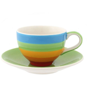 Box of 4 Rainbow Espresso Cup And Saucer