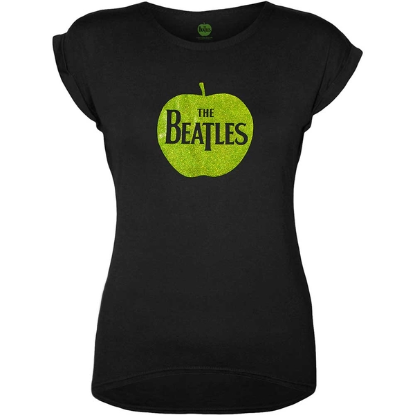 The Beatles - Apple Logo Women's Small T-Shirt - Black
