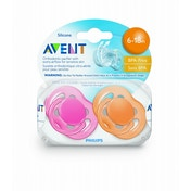 Philips AVENT SCF178/24 BPA-Free Freeflow Soothers (6 to 18 Months) 2 Pack (Colors may vary)