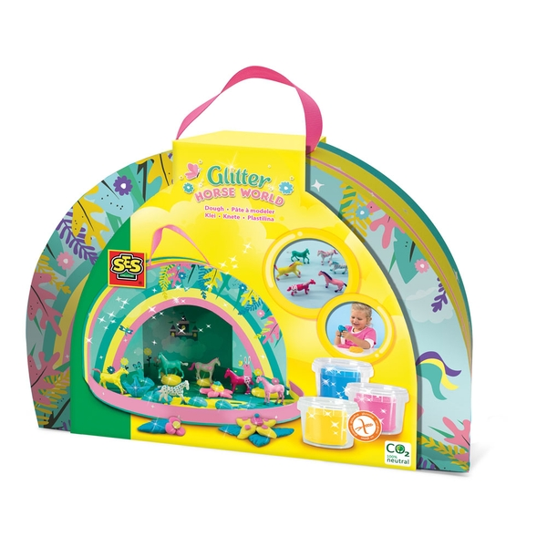 SES Creative Glitter Horse World Play Suitcase Activity Set