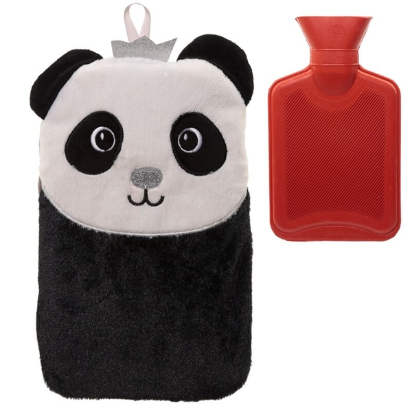 Plush Pandarama Crown 1 Litre Hot Water Bottle and Cover