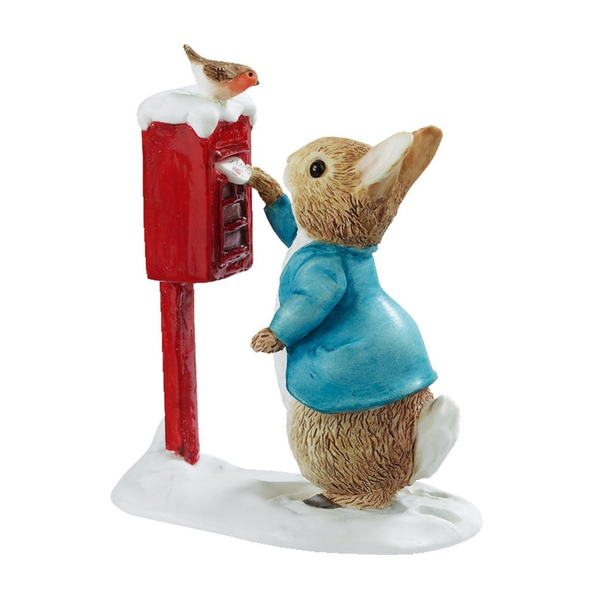 Peter Rabbit Posting a Letter Figurine