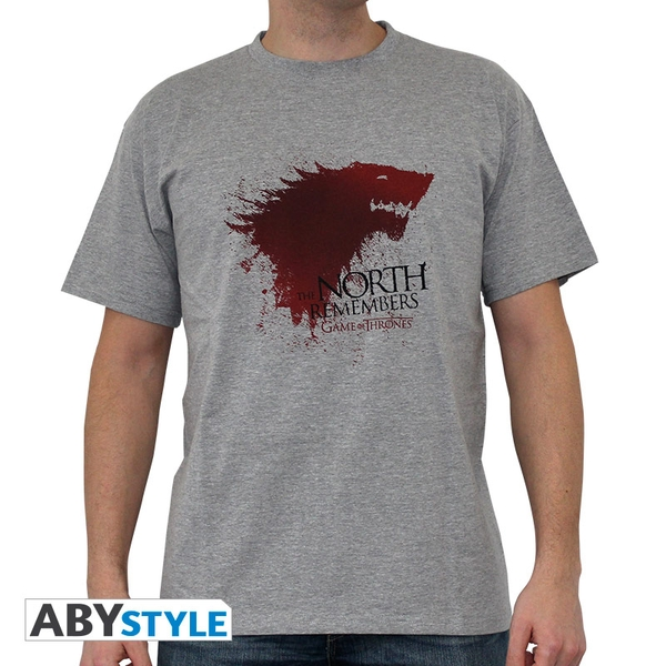Game Of Thrones - The North... Men's Large T-Shirt - Grey